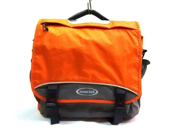 mont-bell(モンベル) リュックサック美品  オレンジ×グレー ナイロン