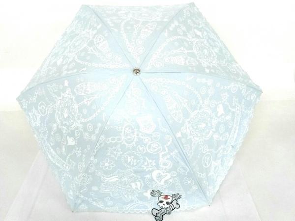 ヴィヴィアンウエストウッドアクセサリーズ 折りたたみ傘美品  日傘/スカル 化学繊維