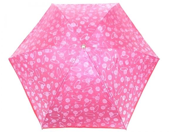ヴィヴィアンウエストウッドアクセサリーズ 折りたたみ傘 ピンク×レッド 遮光/日傘