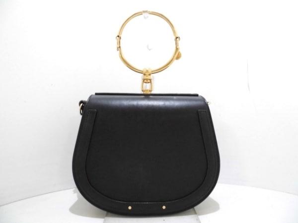 クロエ ハンドバッグ美品  ナイル ミディアムブレスレットバッグ 3S1300-HEU 黒