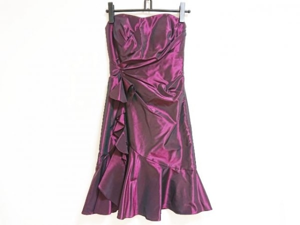 GENETVIVIEN(ジュネビビアン) ドレス サイズ9 M レディース ボルドー
