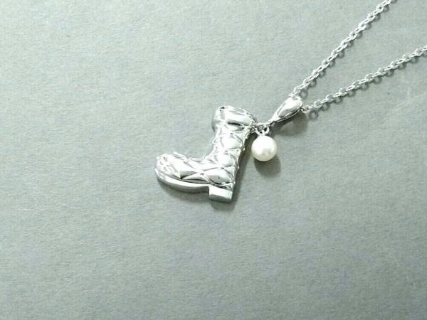 mikimoto(ミキモト) ネックレス美品  シルバー×パール アイボリー ブーツモチーフ