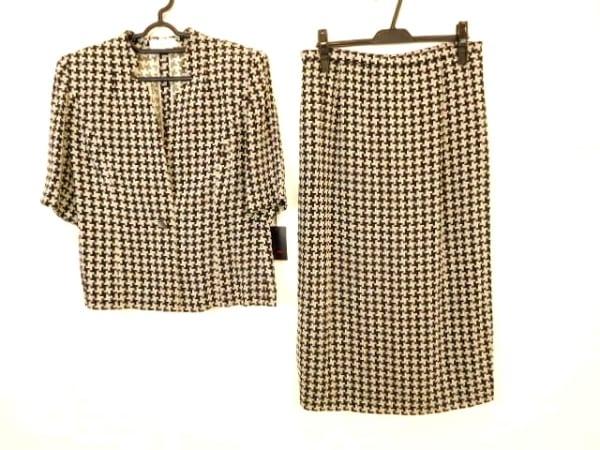 ラピーヌルージュ スカートスーツ サイズ13 L レディース美品  黒×グレー