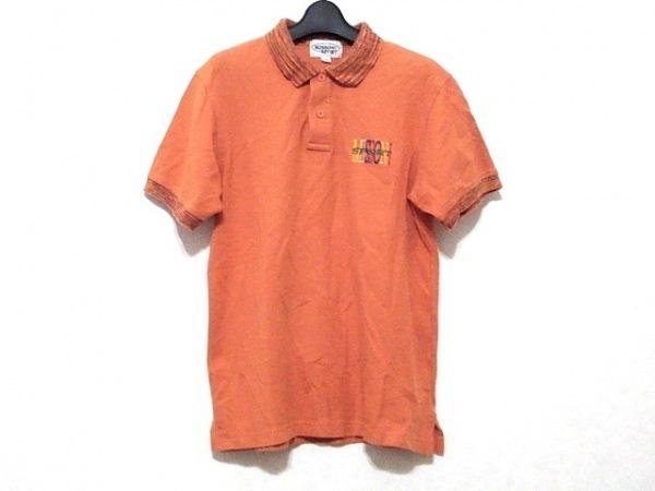 MISSONI SPORT(ミッソーニスポーツ) 半袖ポロシャツ サイズM メンズ オレンジ