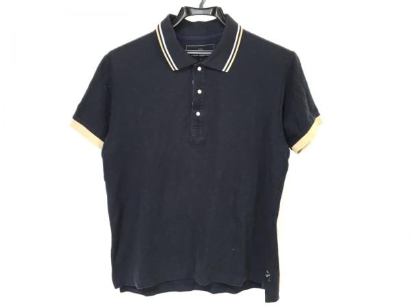 ユニフォームエクスペリメント 半袖ポロシャツ メンズ 黒×白×ベージュ