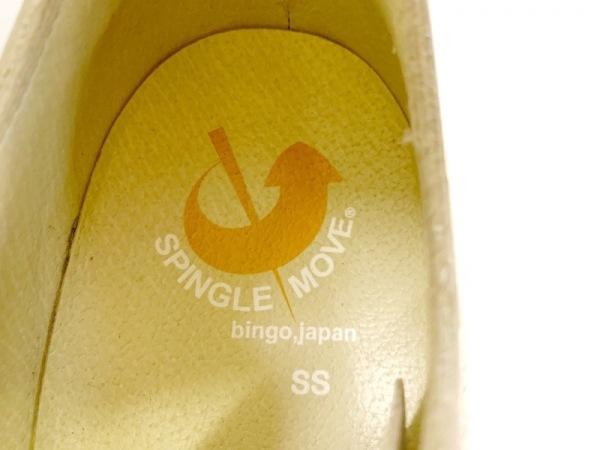スピングルムーブ スニーカー レディース ライトグレー×ピンク×オレンジ レザー