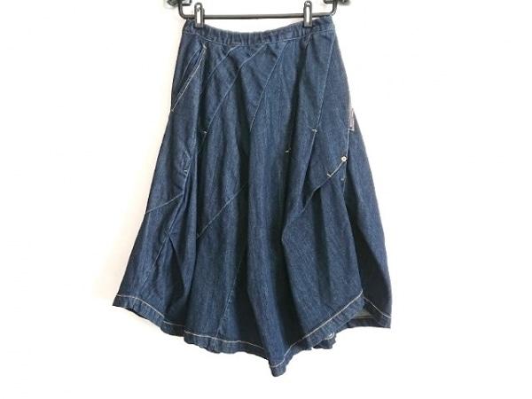 メルシーボークー ロングスカート サイズ0 XS レディース美品  ダークネイビー デニム