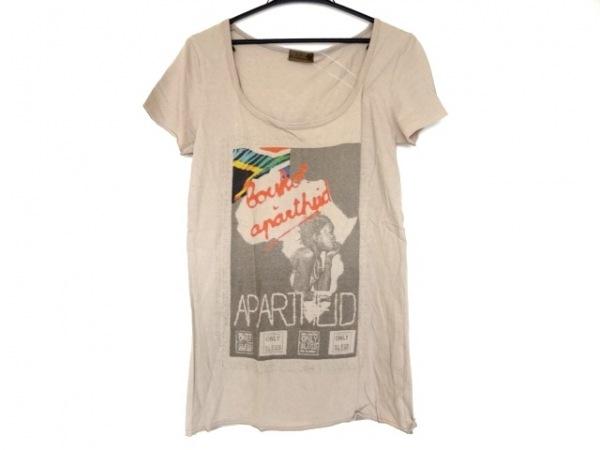G.O.A/goa(ゴア) 半袖Tシャツ サイズF レディース美品  ベージュ×マルチ