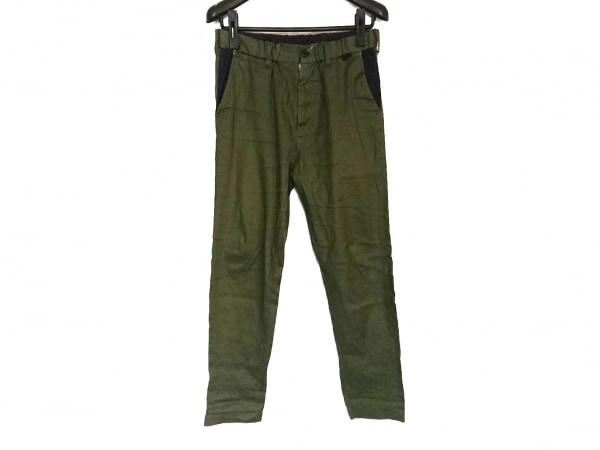 サイコバニー パンツ サイズS メンズ ダークグリーン×ネイビー ドット柄