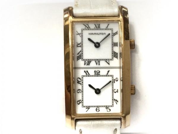 HAMILTON(ハミルトン) 腕時計 6232 レディース 革ベルト/型押し加工 アイボリー