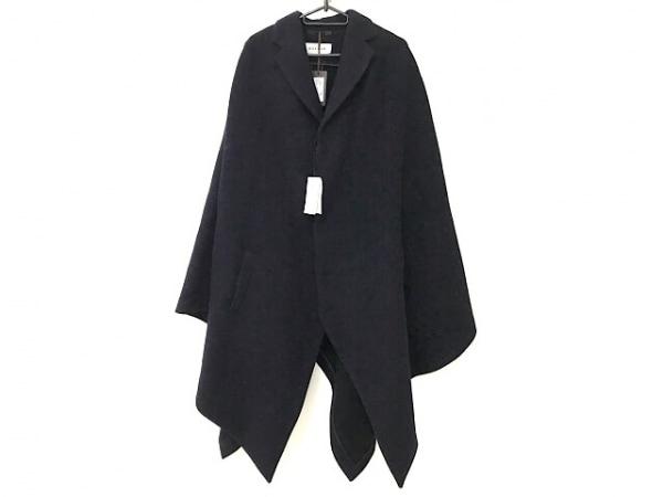 CARUSO(カルーソ) ポンチョ サイズ46 XL メンズ美品  ダークネイビー ロング丈/冬物