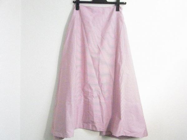 マディソンブルー ロングスカート サイズ01(S) レディース新品同様  レッド×白