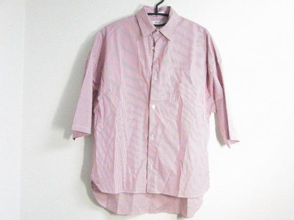 マディソンブルー 半袖シャツブラウス サイズ01(S) レディース新品同様  レッド×白
