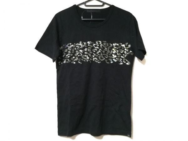 roar(ロアー) 半袖Tシャツ サイズ1 S メンズ 黒 ラインストーン/豹柄