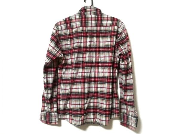 ラブレス 長袖シャツ サイズ1 S メンズ ライトグレー×レッド×マルチ チェック柄