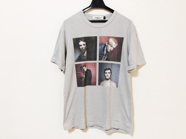 アンダーカバイズム 半袖Tシャツ サイズ2 M メンズ ライトグレー×黒×マルチ