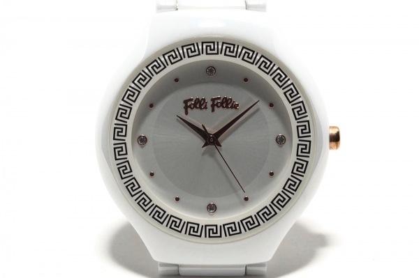 FolliFollie(フォリフォリ) 腕時計 WF16F021BS レディース 白
