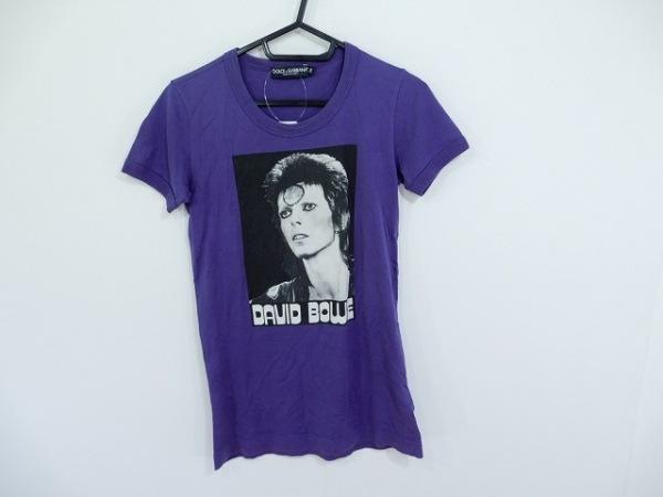 ドルチェアンドガッバーナ 半袖Tシャツ サイズ36 S レディース パープル