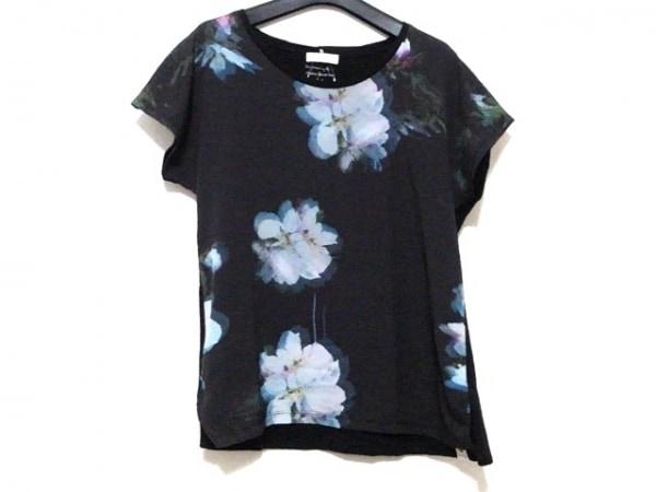 PaulSmith(ポールスミス) 半袖カットソー サイズM レディース美品  黒×マルチ 花柄
