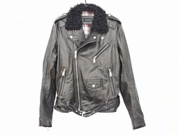 ディースクエアード ライダースジャケット サイズ46 S メンズ美品  黒 冬物/レザー