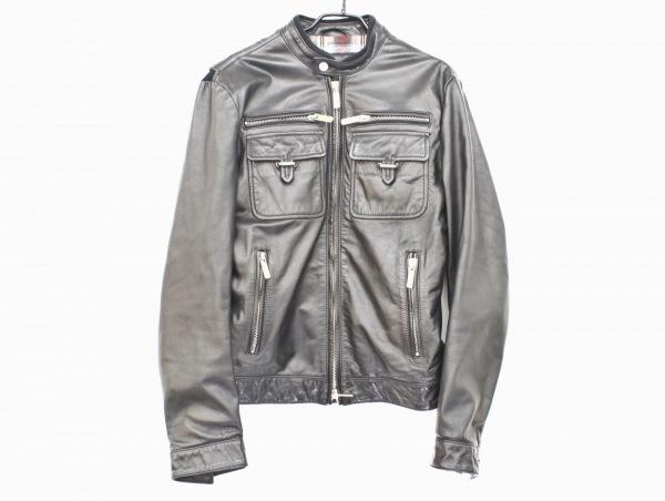 DSQUARED2(ディースクエアード) ライダースジャケット サイズ46 L レディース美品  黒