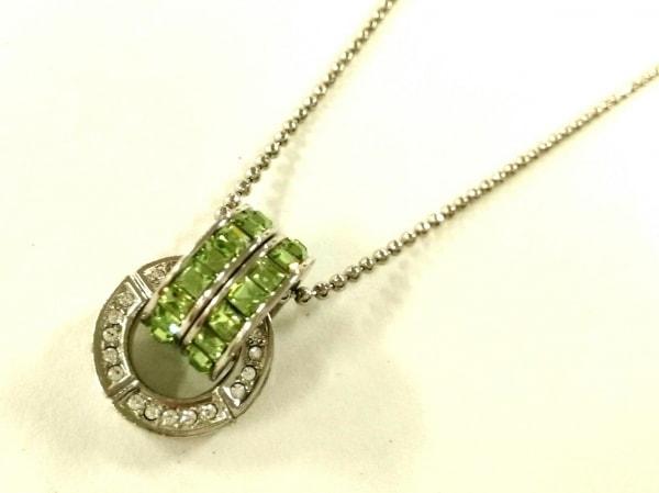GROSSE(グロッセ) ネックレス美品  金属素材×ラインストーン×カラーストーン