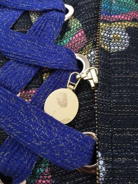 スレトシス ジャケット サイズ38 M レディース美品  ダークグレー×パープル×マルチ