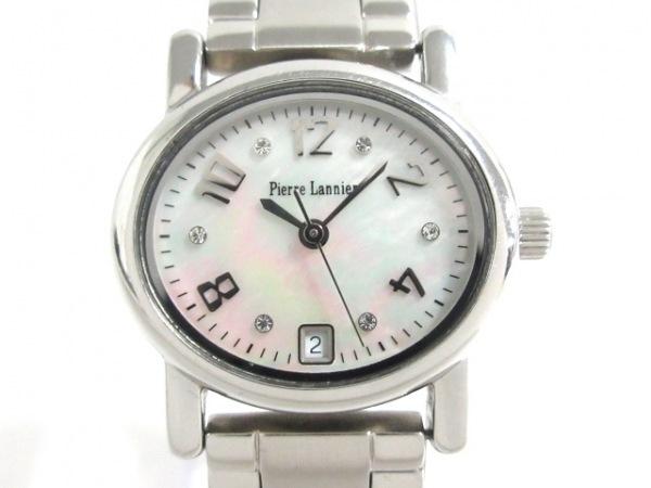 ピエールラニエ 腕時計美品  P849601 レディース シェル文字盤 シェルホワイト