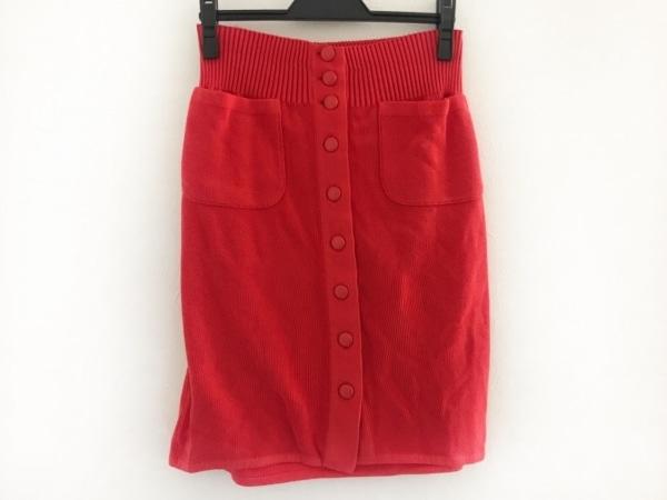 CHANEL(シャネル) スカート サイズ40 M レディース レッド ニット