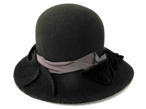 CA4LA(カシラ) ハット美品  黒×グレー ウール×ベロア