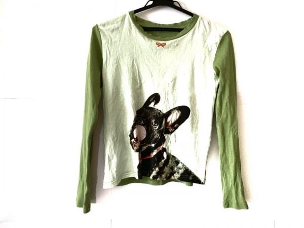 アニヤハインドマーチ 長袖Tシャツ サイズ40 M レディース ライトグリーン×マルチ