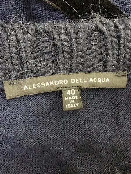 アレッサンドロデラクア 長袖セーター サイズ40 M レディース ダークネイビー ニット
