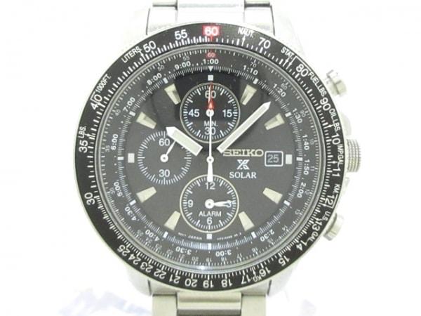 SEIKO(セイコー) 腕時計 V172-0AC0 メンズ 黒