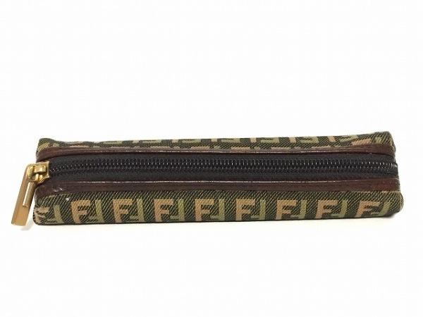 FENDI(フェンディ) ペンケース ズッキーノ柄 7N0052 黒×ダークブラウン×マルチ