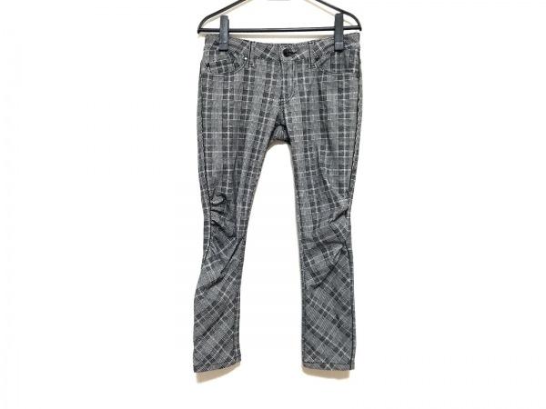 ダブルスタンダードクロージング パンツ サイズ38 M レディース 黒×白×ネイビー