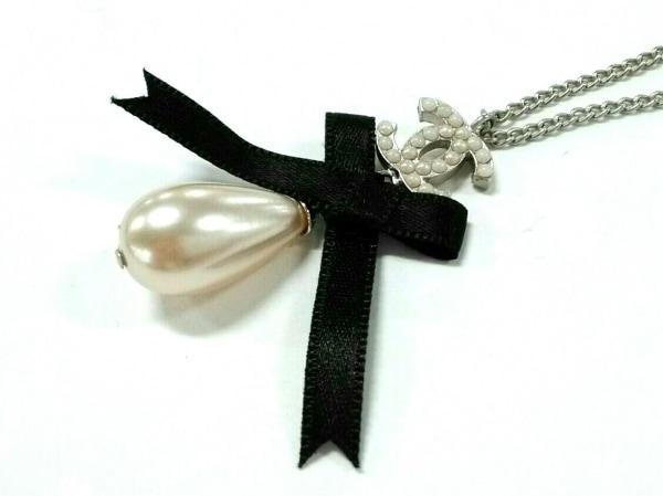 シャネル ネックレス美品  金属素材×フェイクパール×化学繊維 リボン/ココマーク