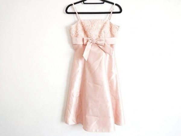 ジュネビビアン ドレス サイズ9 M レディース美品  ピンク リボン/スパンコール