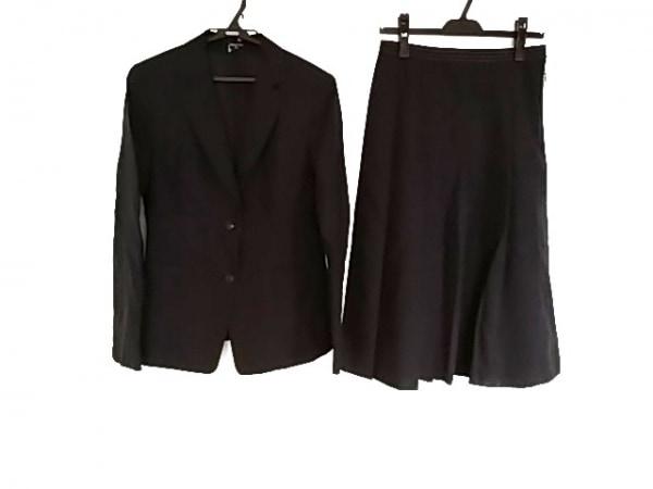 アクアスキュータム スカートスーツ サイズ9 M レディース美品  ダークネイビー