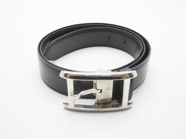 Cartier(カルティエ) ベルト 黒×シルバー レザー×金属素材