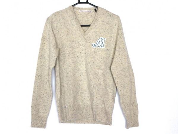 マドモアゼルノンノン 長袖セーター サイズM レディース美品  アイボリー×マルチ