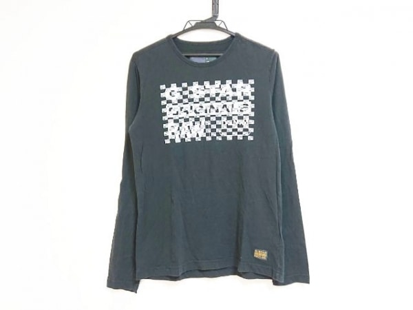 G-STAR RAW(ジースターロゥ) 長袖Tシャツ サイズS レディース 黒×白