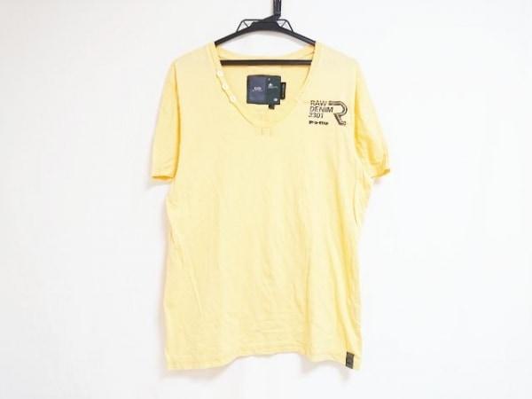 G-STAR RAW(ジースターロゥ) 半袖Tシャツ サイズM レディース オレンジ×グレー
