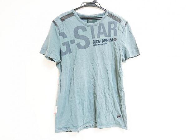 ジースターロゥ 半袖Tシャツ サイズL レディース ライトグレー×グレー×ダークグレー