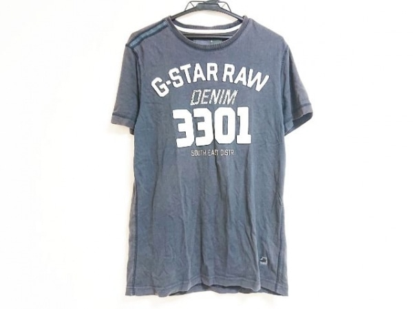 G-STAR RAW(ジースターロゥ) 半袖Tシャツ サイズM レディース グレー×白