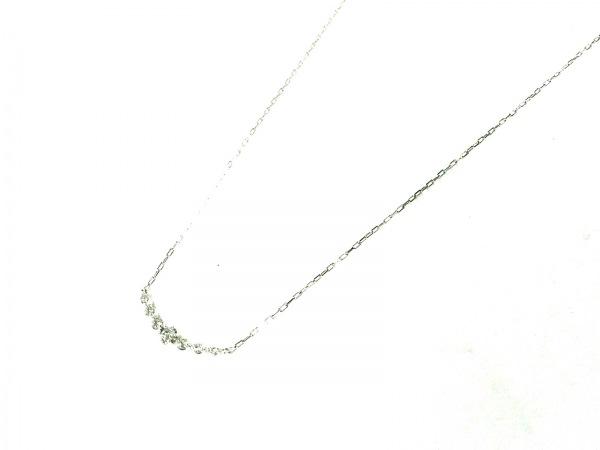 4℃(ヨンドシー) ネックレス美品  K10×ダイヤモンド 7Pダイヤ