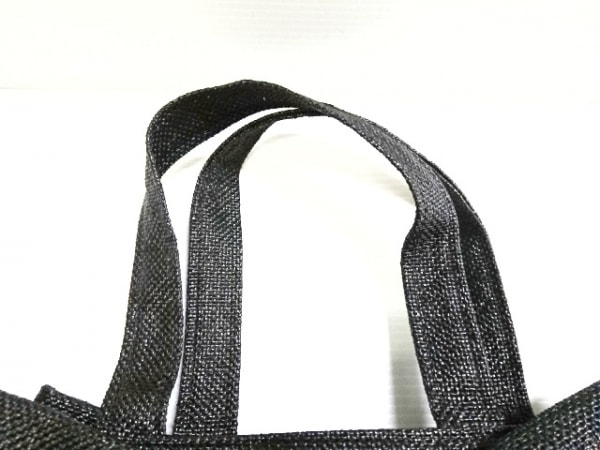 MUGUET(ミュゲ) トートバッグ美品  黒 リボン ストロー