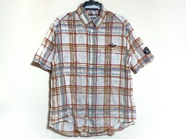 SINACOVA(シナコバ) 半袖シャツ サイズS メンズ美品  白×マルチ チェック柄