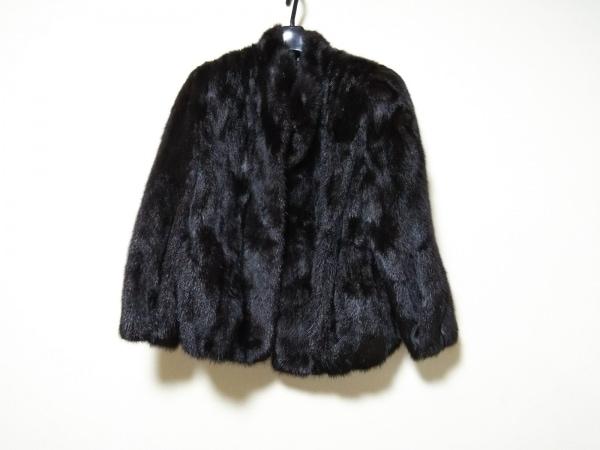 サガミンク コート サイズ9 M レディース美品  ダークブラウン 冬物/ミンク