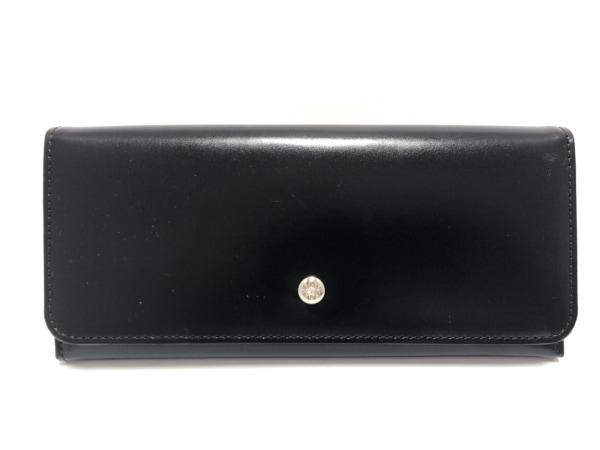 CYPRIS(キプリス) 長財布美品  黒×パープル ラインストーン レザー