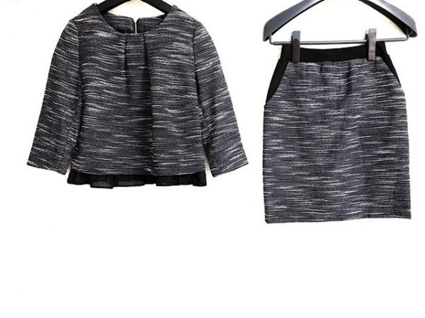 ru(アールユー) スカートセットアップ レディース 黒×白